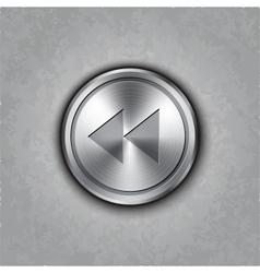 round metal backward rewind knob vector image vector image
