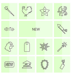 14 new icons vector