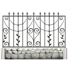 A steel fence vector
