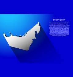abstract map of united arab emirates with long vector image