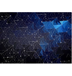 abstract polygonal space dark blue with vector image