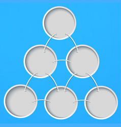 abstract template with circles on a blue vector image