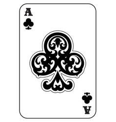 Ace clubs vector
