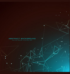Amazing technology background with digital wires vector