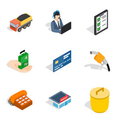Association icons set isometric style vector