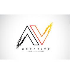 Av creative modern logo design with orange and vector