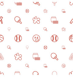 ball icons pattern seamless white background vector image