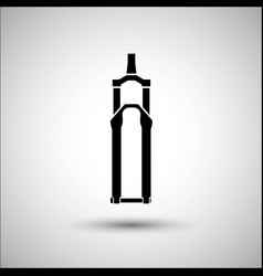 Bicycle suspension fork bicycle accessories vector