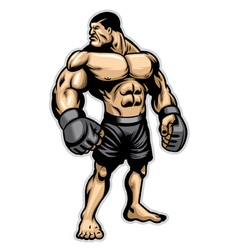 Big heavyweight muscle fighter vector