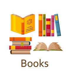 books set isolated on the white background vector image