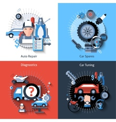 Car Repair Set vector image