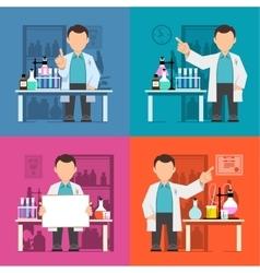 Character scientist doctor vector image