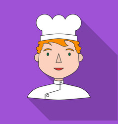 chef icon in flat style isolated on white vector image