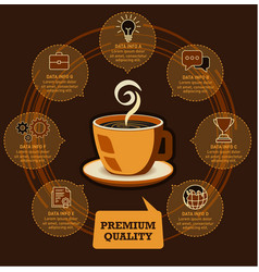 coffee cup and business infographic design vector image