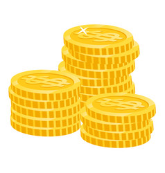 coins dollar money profit from business vector image