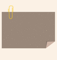 Craft paper with clip vector