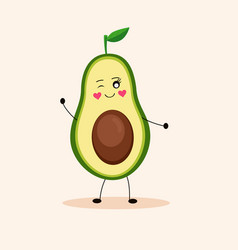Cute avocado girl 1 vector
