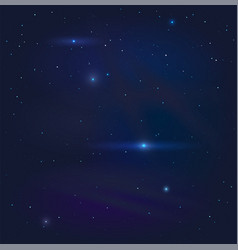 Dark night starry sky background vector