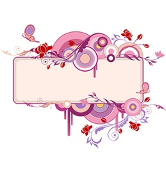 Decorative banner with flowers vector