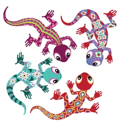 Decorative lizards vector