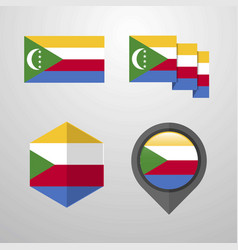 Democratic republic of the congo flag design set vector