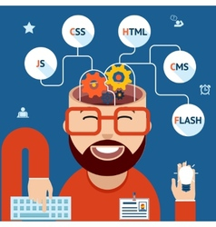 Developer web and mobile applications vector