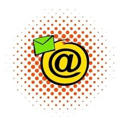 E-mail sign icon comics style vector image