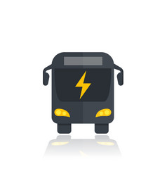 Electric bus icon modern city transport vector