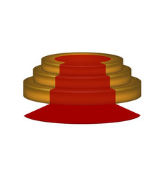 empty podium with red carpet vector image