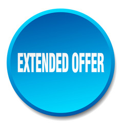 Extended offer blue round flat isolated push vector