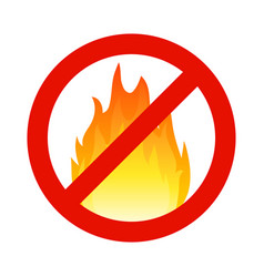 Fire flammable symbol hazzard flame sign safety vector