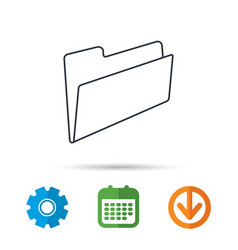 folder icon accounting audit sign vector image