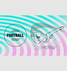 football player catch ball in a jump outline vector image