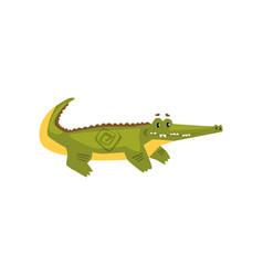 Friendly crocodile funny predator cartoon vector