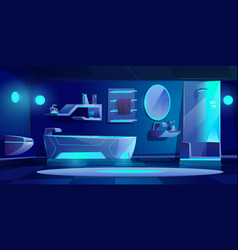 futuristic bathroom interior furniture and stuff vector image