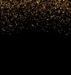 Golden Explosion of Confetti vector image