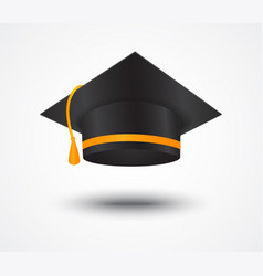 graduate cap isolated on white vector image