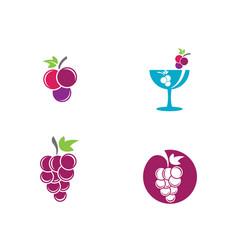 Grapes logo template icon vector
