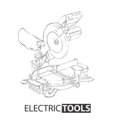Hand drawn miter saw vector