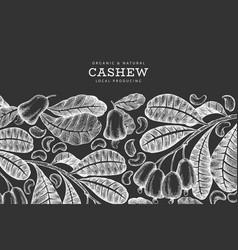 Hand drawn sketch cashew design template organic vector