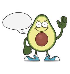 Happy smiling avocado fruit cartoon character vector
