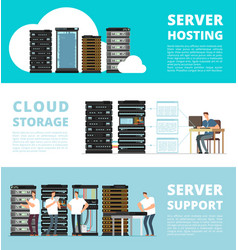 Hardware server system and network administration vector