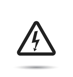 high voltage danger sign icon danger electricity vector image