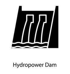 Hydroelectric dam vector