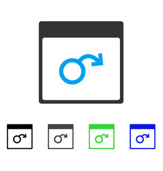 Impotence calendar page flat icon vector