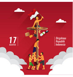 Indonesia traditional games during independence vector