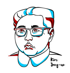 Kim jong-un portrait vector