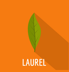 Laurel leaf icon flat style vector