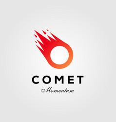 letter o comet meteor logo icon design vector image