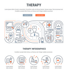 Linear banner therapy vector